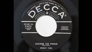Ernest Tubb - Answer The Phone (Decca 29731) YouTube Videos