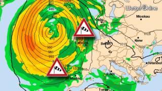 Sturmtief bringt Riesenwellen - Unwettergefahr in Portugal
