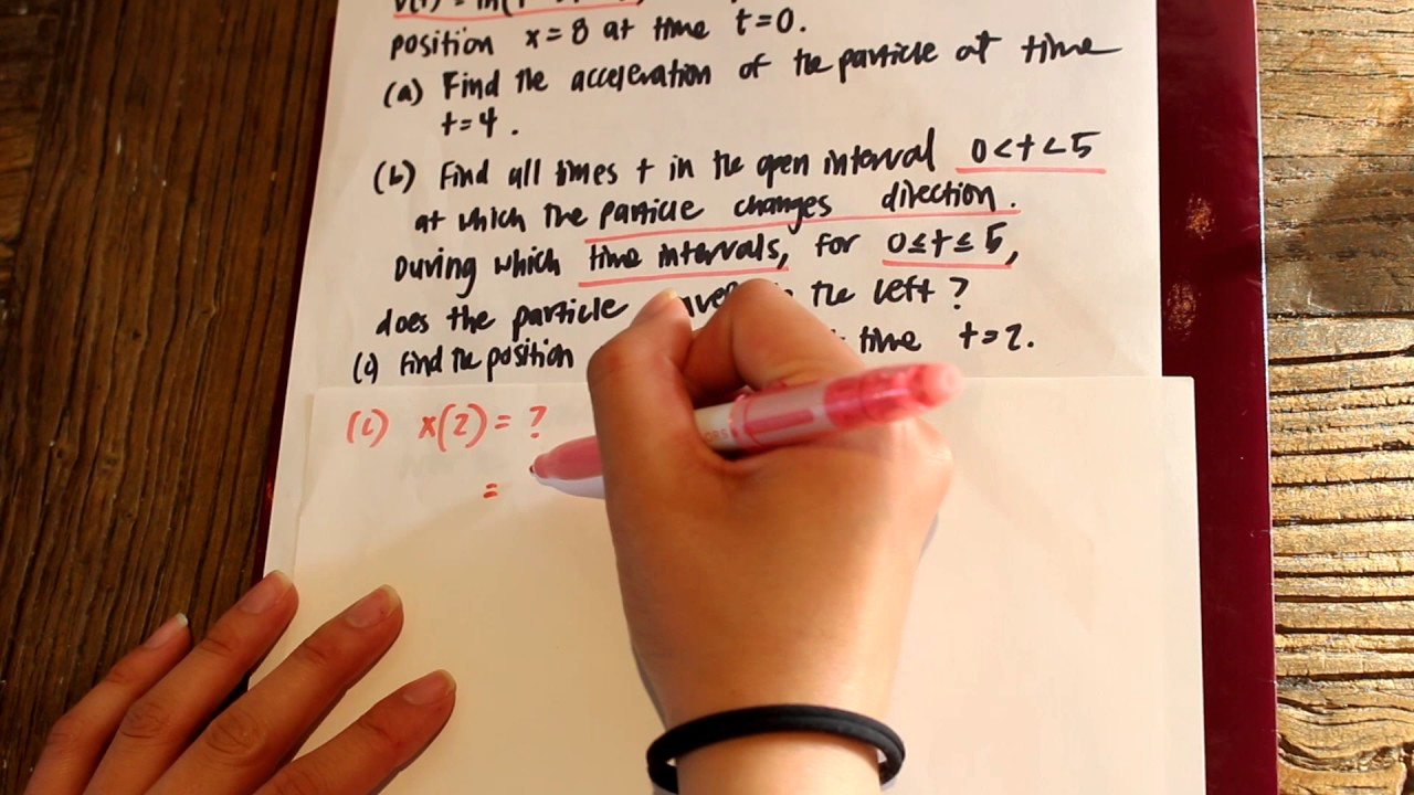 AP CALC AB FRQ 2005 Form B Number 3 - YouTube
