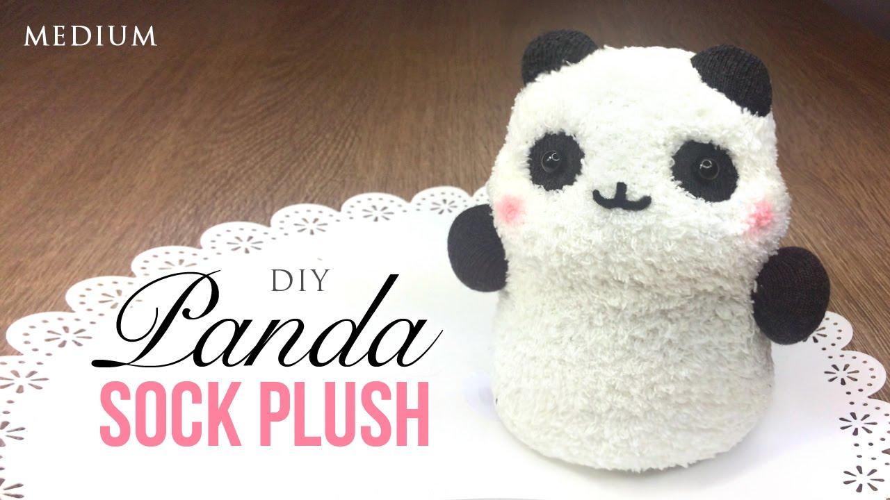 How To Make Panda Plush Using Socks Kawaii Budget Diy