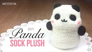 How to Make Panda Plush Using Socks! Kawaii Budget DIY