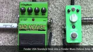 Mooer Green Mile Vs Digitech Bad Monkey Overdrive Pedal Shootout