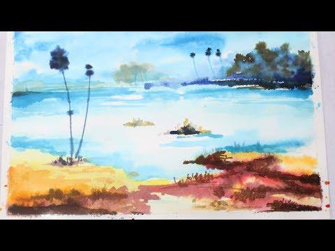 landscape painting for beginner – 01