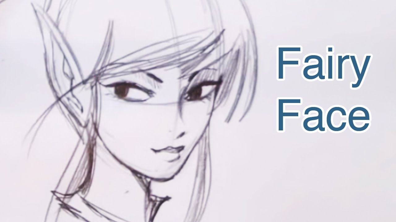 how to draw a beautiful fairy face step by step youtube
