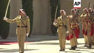 King Abdullah receives Albanian President