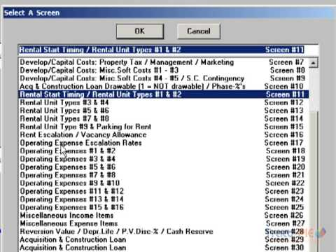 Income Generating Property Financial Analysis Projection Software for Property Developers