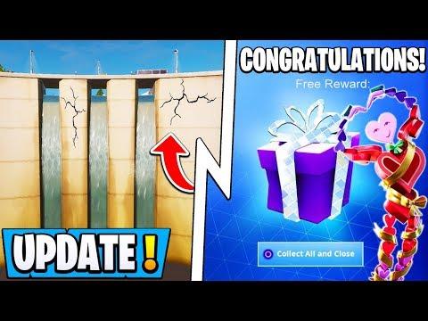 *NEW* Fortnite Update!   Season 2 *Flood*, Free Valentine Gift, New Item!