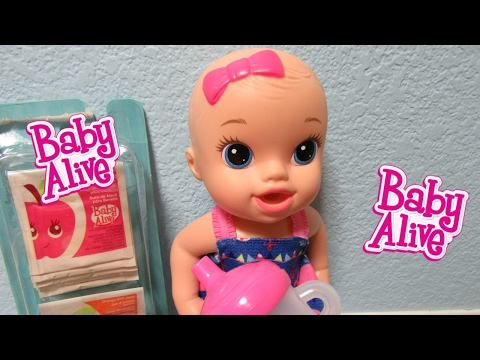 BABY ALIVE Sips n Cuddles Doll Unboxing + drinks Vintage Doll Juice + Changing! Need Name!