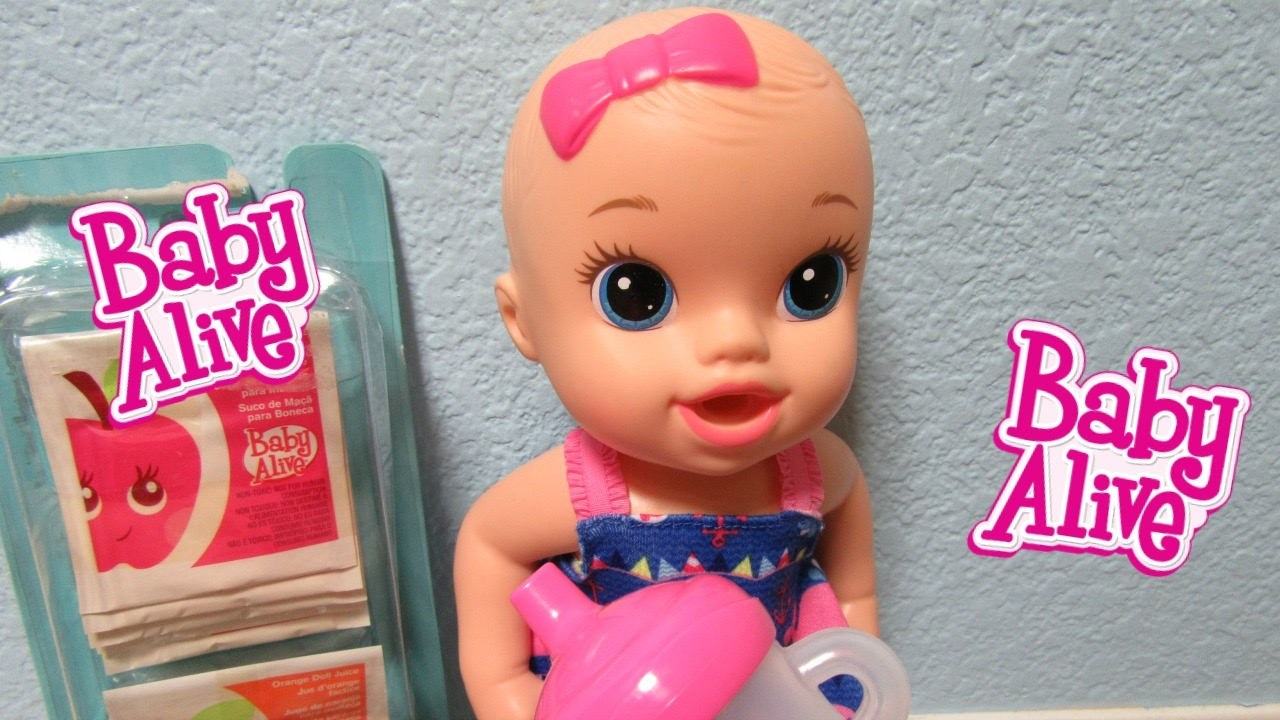 Baby Alive Sips N Cuddles Doll Unboxing Drinks Vintage