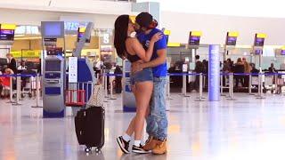 Kissing Prank - Airport  Edition
