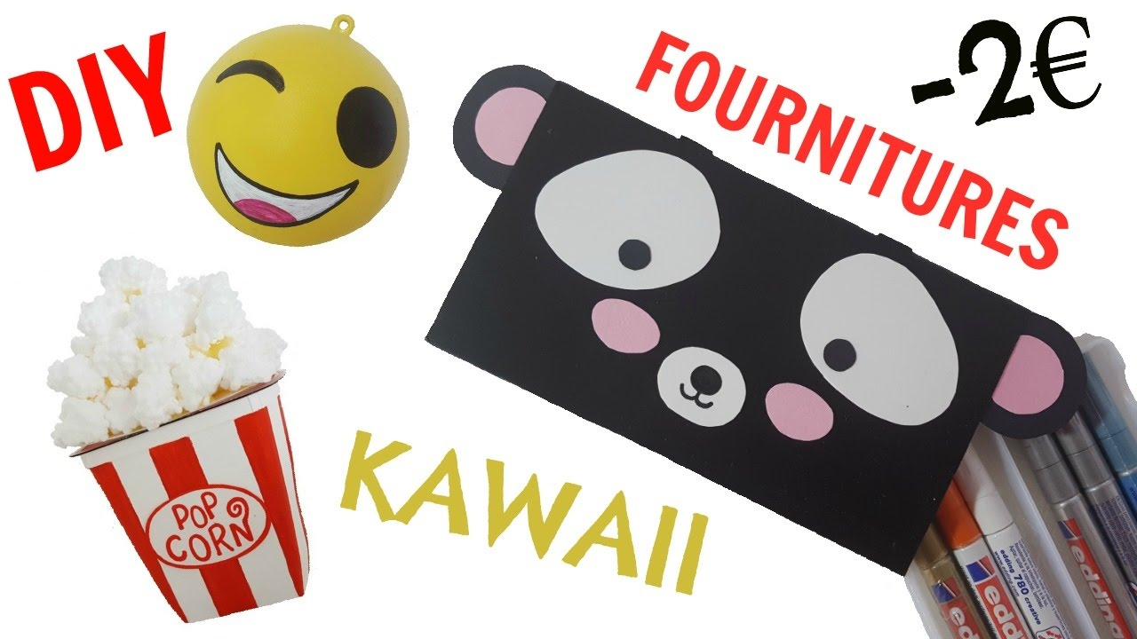 diy fournitures bureau kawaii 2euros youtube. Black Bedroom Furniture Sets. Home Design Ideas
