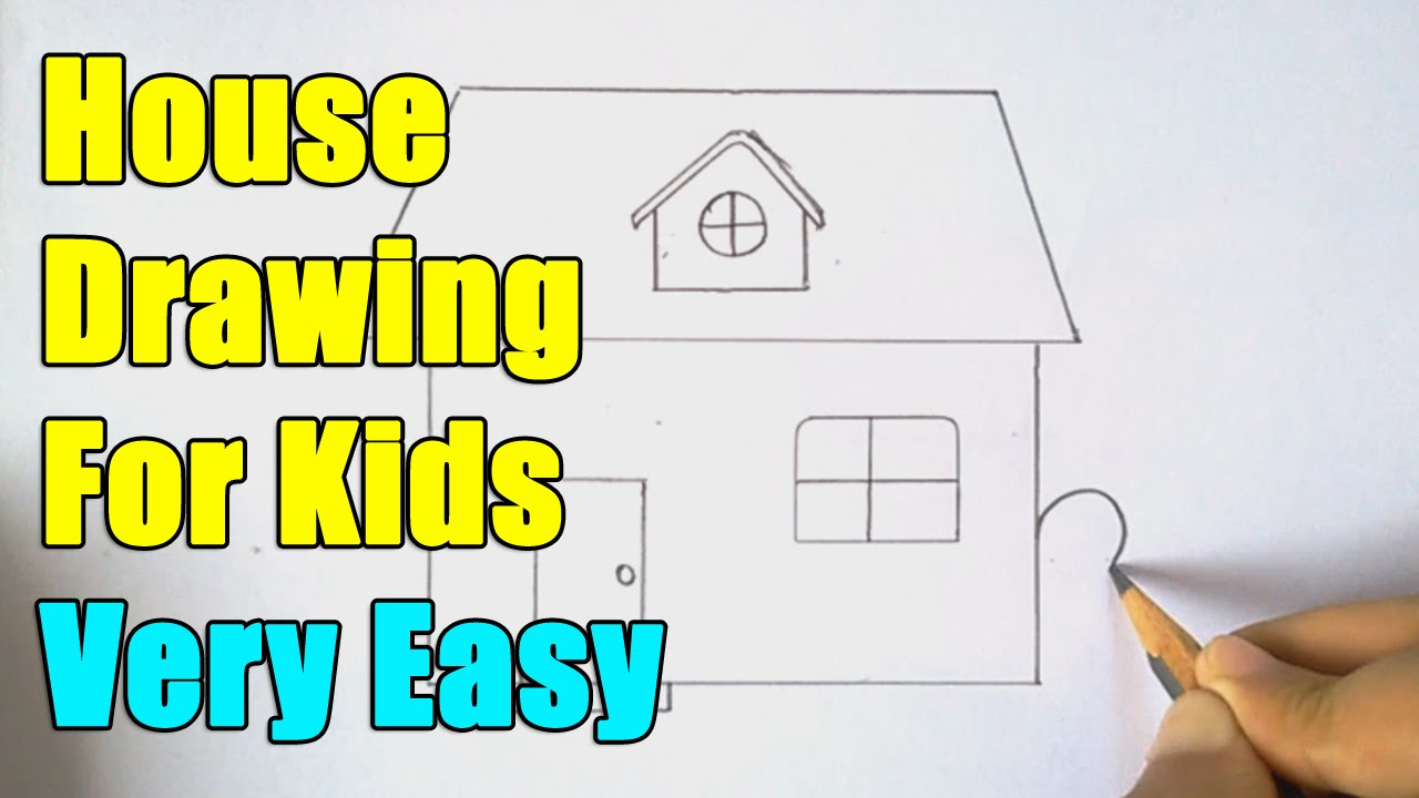 How to draw a house youtube Step by step to build a house