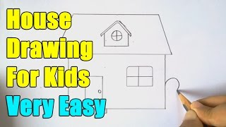 How to Draw a House(How to Draw a House. In this video we are going to learn how to draw House step by step for kids. This is quite an easy sketch and I am sure kids are going to ..., 2015-08-14T10:24:06.000Z)