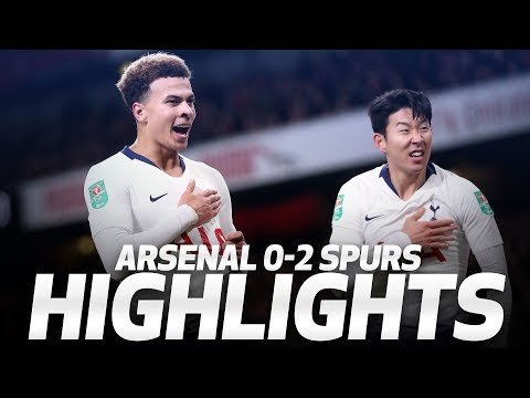 HIGHLIGHTS | ARSENAL 0-2 SPURS (Carabao Cup quarter-final)