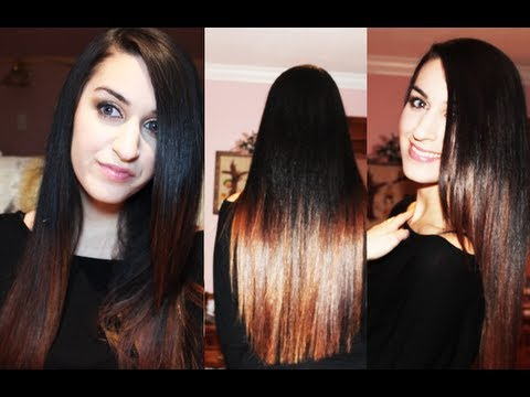 All About My Hair Ombre Straight Hair Routine Youtube