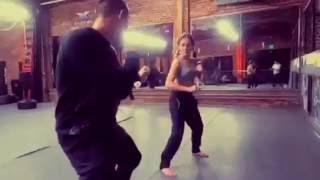 Kung Fu Couple fight choreography at XMA HQ - Los Angeles Martial Arts