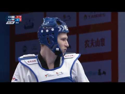 Wuxi 2018  World Taekwondo Grand Slam FINAL +80kg  Kyodon IN(KOR) vs Roman KUZNETSOV(RUS)