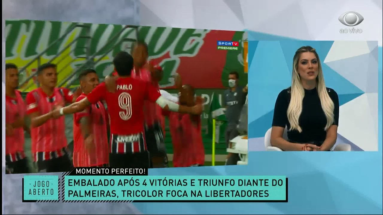 RENATA FAN E DENÍLSON SHOW COMENTAM MOMENTO PERFEITO DO SÃO PAULO | JOGO ABERTO