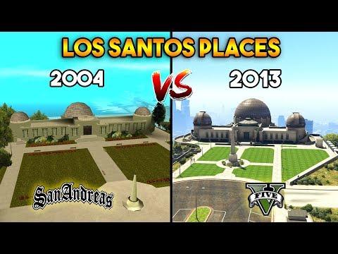 GTA 5 VS GTA SAN ANDREAS : LOS SANTOS PLACES
