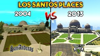 GTA 5 VS GTA SAN ANDREAS : LOS SANTOS PLACES