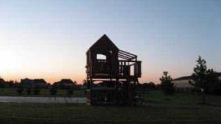 Woodridge Wooden Swing Set With Slide Construction