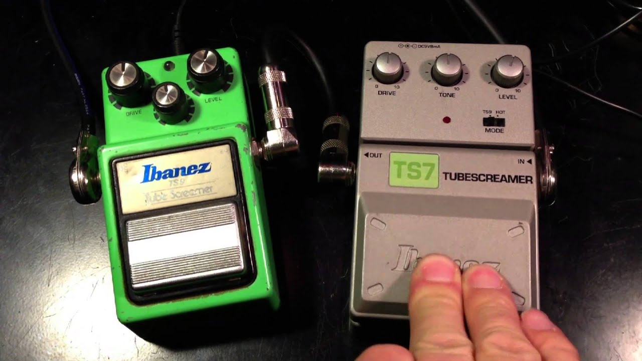 ibanez tube screamer ts9 vs ibanez tube screamer ts7 youtube