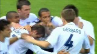 David Beckham free kick scored in the World Cup 2006