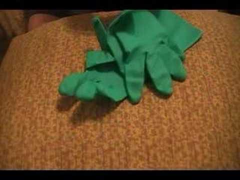 White glove then Green gloves