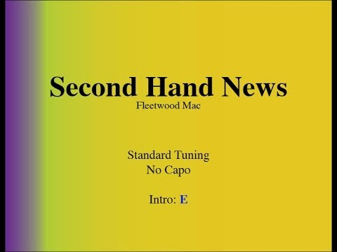 Second Hand News - Easy Guitar (Chords and Lyrics)