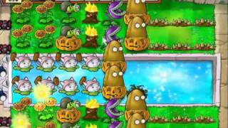 Plants vs Zombies - Survival Pool (Hard)
