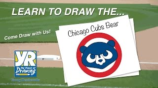 Teaching Kids How to Draw: How to Draw The Chicago Cubs Bear Logo