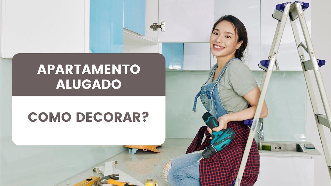 Decorando apartamento alugado  Minuto Decoração  YouTu -> Como Decorar Banheiro De Apartamento Alugado