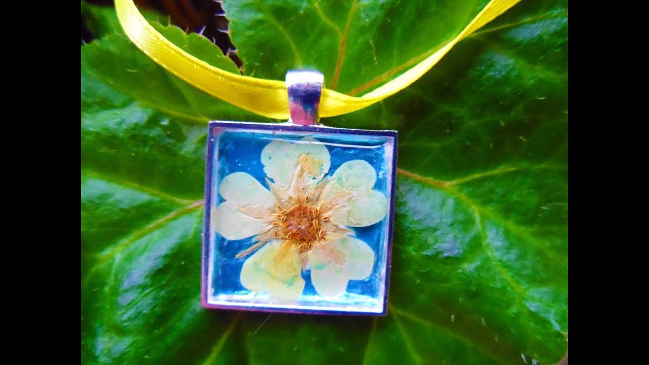 Pressed flower pendant tutorial youtube pressed flower pendant tutorial mozeypictures Choice Image
