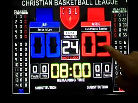scoreboard basketball