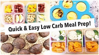 Meal Prep Time! Snack Boxes, Egg Bites & Muffins // Healthy, Low Carb & Keto Friendly Recipes