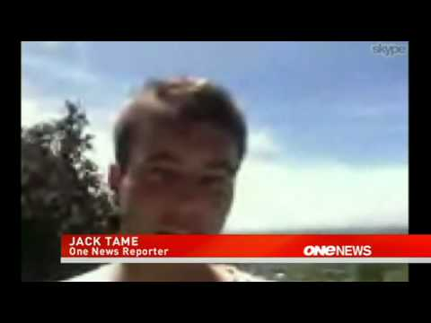 2011-12-23 - ONE NEWS - CHRISTCHURCH EARTHQUAKE, JACK TAME INTERVIEW