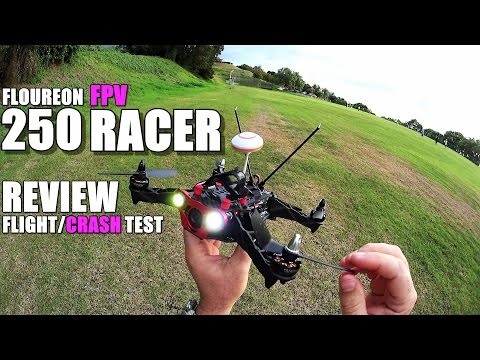 FLOUREON 250 FPV Race Drone Review - Part 2 - [Flight & Cras