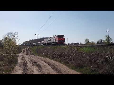 2ТЭ10У-300 с составом следует из Моршанска в Пензу
