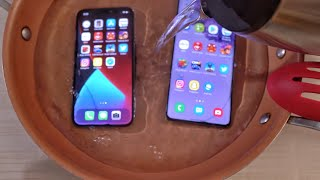 iPhone 12 Pro vs Samsung Galaxy S20 Plus HOT WATER TEST! 🔥💧