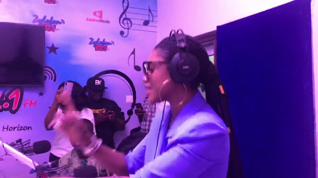 Download Becca shows her crazy dance skills at Zylofon Fm studio