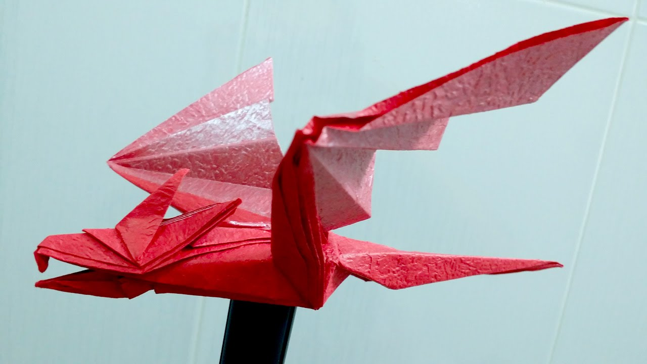 Paper Dragon - How to make an easy origami dragon - YouTube