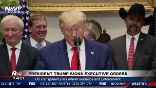 POTUS: Trump signs Executive Orders at The White House