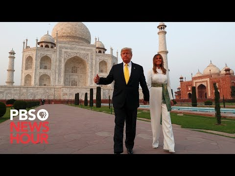 WATCH: Trump And First Lady Visit Taj Mahal During India Visit