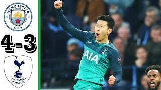 Man City vs Tottenham | 4 -3 All Goals &  Highlights  | Bóng Đá Đẹp