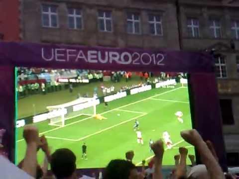 Greece Poland PENALTY Euro 2012 reaction of Wrocław