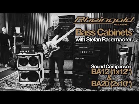 "Rheingold-Music B100 Bass Amp, BA12 (1x12"") Box, BA20 (2x10"") Box"