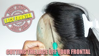 Lace Frontal Bootc HOW TO CUT THE LACE OFF A FRONTAL WIG
