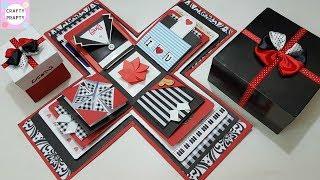 انفجار مربع التعليمي / DIY انفجار مربع/كيفية جعل مربع الانفجار/DIY هدية عيد ميلاد