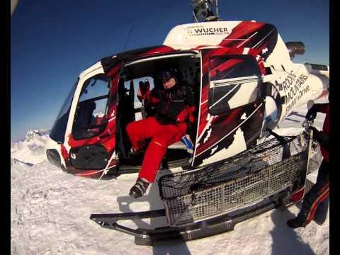 St Anton am Arlberg 02.2013 Heliski am Mehlsack und Tour GoPro
