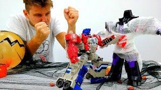 Игры для мальчиков. Битва Автоботы и Десептиконы - Трансформеры и Хэллоуин